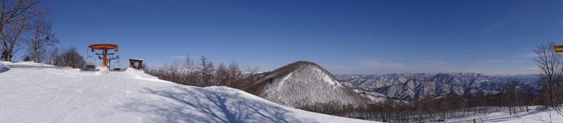 会津高原高畑スキー場オレンジ山頂