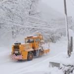 国道除雪作業中